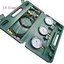 1 Set Of Digital Hydraulic Pressure Test Couplingampgauge 14 Couplings