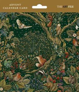 Christmas Advent Calendar Card Secret Garden 2021 with Envelope FREE UK Postage