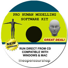 Professional 3D Scan Modelling CD Software Kit - Make Models Of The Human Body