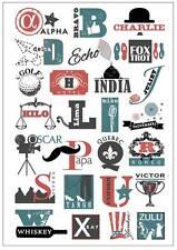 Framed Print - Vintage Phonetic Alphabet (Picture Military Police World War Art)