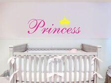 Princess Crown Removable Art Vinyl Wall Decal Sticker Decor Baby Room Nursery