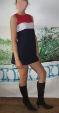 """Vtg Mini Dress by Jalate RED WHITE BLUE """"Frenchy"""" Sexy Pinup Paris SHIPS FREE!"""