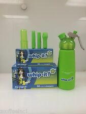 100 Whipped Cream Chargers Nitrous Oxide N2O WHIP-IT Best Quality COMBO GREEN