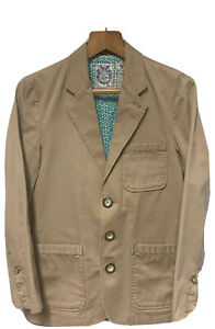 Trovata Floral Slim Large Tweed Wool Patch Pocket Hacking Norfolk Blazer Jacket
