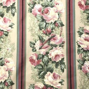 Vtg Croscill Ladaka Panel Curtain Lined 44 x 84 Roses Floral Cottagecore New