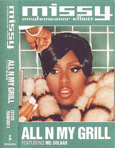MISSY ELLIOTT ALL N MY GRILL CASSETTE SINGLE MC SOLAAR HIP HOP RnB/Swing