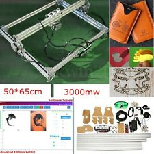 3000mW DC 12V 65x50CM Laser Engraving Machine DIY Desktop Carving Cutting
