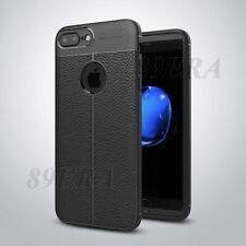 New Leather Texture Skin Case Shockproof Soft TPU Cover For iPhone 6 7 8 Plus X