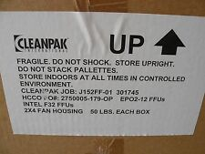 Cleanpak International Cpffu-Ac1-2X4 Fan Housing 720 Cfm 277 Vac 1 Ph 60 Hz