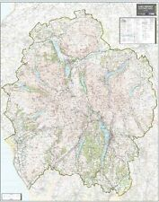 ORDNANCE SURVEY MAPS - LAKE DISTRICT NATIONAL PARK WALL MAP - 1:60,000 MAP SCALE