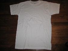 tshirt, us army white usa made,  100% cotton  medium,round neck