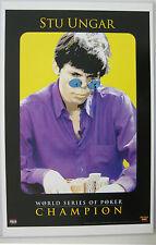 Stu Ungar WSOP Poker Poster DeThomas Grossman Gambling Gamble Chips 11 X 17