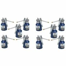 250ml Oil Lubricant Metal Can With Rigid Spout Thumb Pump Trigger Action 10pc