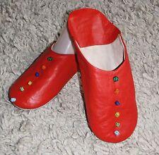 Pantofole in Pelle Morbida marocchino * 8/42 * Rosso