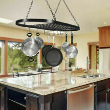 Pot and Pan Rack Hanging Rack Ceiling Decorative Oval Mounted Storage Rack