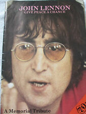 JOHN LENNON - GIVE PEACE A CHANCE - A MEMORIAL TRIBUTE MAGAZINE [THE BEATLES]