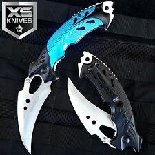 "8"" BLUE TALON Tactical Hunting Survival Rescue Camping KARAMBIT Knife"