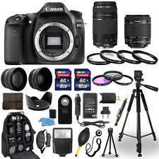 Canon EOS 80D Camera + 18-55mm stm + 75-300mm + 30 Piece Accessory Bundle