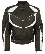 Bangla Motorrad Textil Jacke Motorradjacke kurz schwarz weiss M bis 6 XL