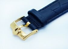 Omega Watch Genuine Leather Replacement Strap with Buckle 18mm