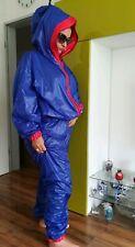Glanznylon Overall STRAMPLER ANZUG SHINE NYLON WETTERLOOK NASS PVC ADULT BABY XL