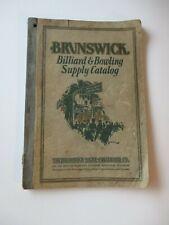 Original1928 Antique Brunswick Billiard & Bowling Complete Catalog-Ephemera