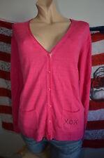 Carnabys kuschelige 100% Schurwolle Wolle Strickjacke XL 46 NEU Pink