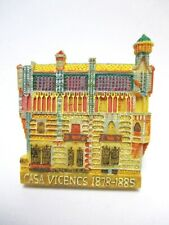 Casa Vicens Gaudi Barcelona Poly Magnet Spain Travel Souvenir Fridge