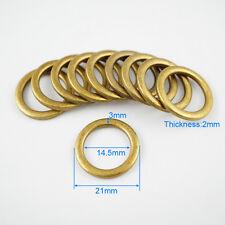 100 Pieces 14.5mm Antique Brass Color Metal O Ring For Purse Bag Handbag