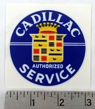 "Vintage Cadillac Service sticker decal 3"" diameter"