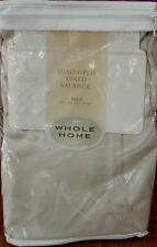 Whole Home Button Tab Microfiber Valance - BRAND NEW IN PACKAGE - BEIGE
