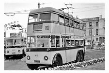 pt7790 - Bournemouth Trolleybus no 84 to Castle Lane Depot - photograph 6x4