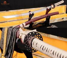 Japanese Full Tang Samurai KATANA Sword 1060 Carbon Steel Sharp Blade Cut Tree