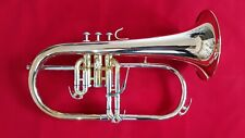 Flügelhorn, Pumpventile - Goldmessing Schallbecher - amerikanische Bauweise