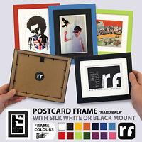 Postcard Picture Frame Wood Black White Colours Conservation Back RUBIX FRAMES