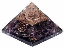 Extra Large Amethyst Orgone Gemstone  (50-55mm) Orgonite Gemstone Pyramid Large