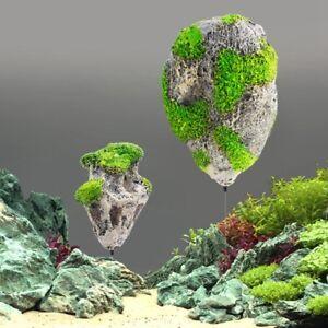 Floating Simulate Rock Suspended Stone Aquarium Fish Tank Decor