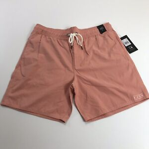 NEW RVCA Coral Gerrard Beach Trunk Swim Surf Shorts Suit Men's Size L Large NWT