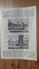 1873 Illustrazione Popolare: Veduta di Roma Palazzo dei Cesari