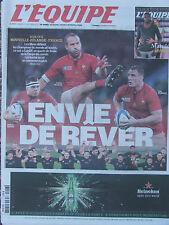 L'Equipe du 17/10/2015 Coupe du monde de rugby : avant France-Nlle Zélande