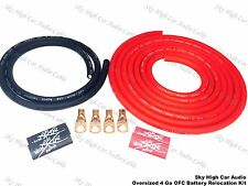 OVERSIZED 4 ga OFC Battery Cable Relocation Kit 12'+ 2'- Wiring IMCA UMP K2