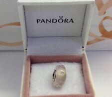 Pandora Pink Effervescence S925ale Murano Glass Charm # 791615 CZ