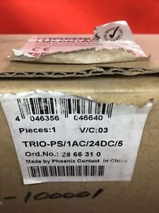 New Sealed Phoenix Contact 2866310 TRIO-PS/1AC DIN Rail Power Supply