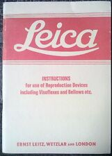 Leica Instructions Vintage Camera Reproduction Devices Visoflex Accessories Rare