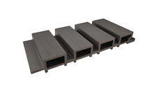 More details for composite slatted cladding boards timber plastic grey black brown - from £7.75/m