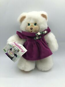 Fisher Price Maggieberry 1998 White Teddy Bear Plush Soft Stuffed Toy Animal