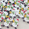 New 10/50/100pcs Snowman Christmas Wood Scrapbooking Sewing Button WB51