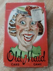 Vintage whitman old maid cards