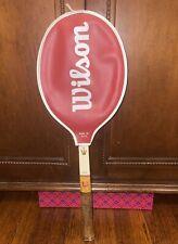 Vintage Wilson Jack Kramer Autograph Wooden Tennis Racquet 4 1/4 Grip W/ Cover