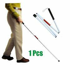 Folding Cane Blind Foldable White Walking Cane Collapsible Mobility Stick